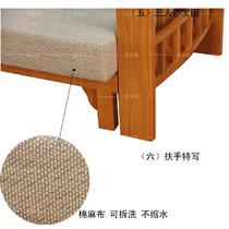 L形面料工艺橡胶木多功能复合面料海绵现代中式 沙发