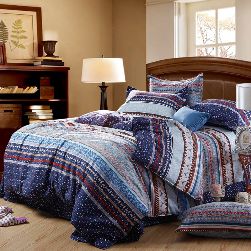 皇家皇朝 全棉所有人群四件套床单式欧洲风格磨毛 星空床品件套四件套