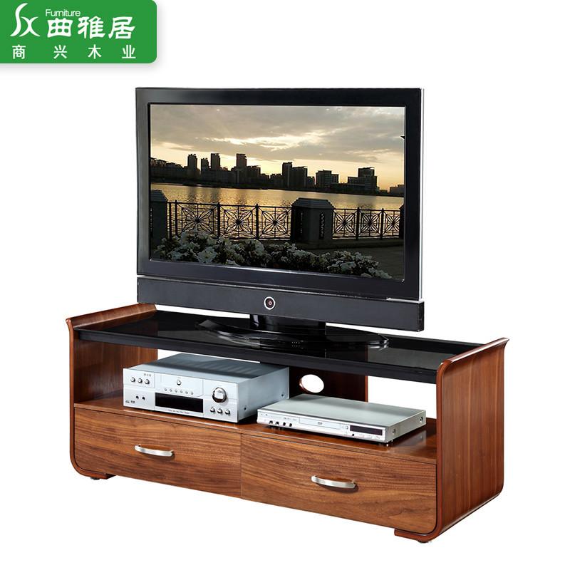 木色烤漆玻璃曲木结构核桃木多功能艺术成人简约现代 ts-202-1电视柜