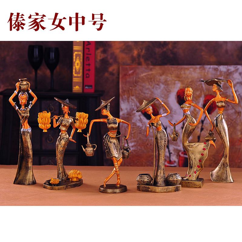 尚宏 树脂人物桌面摆件装饰美观现代中式 摆件