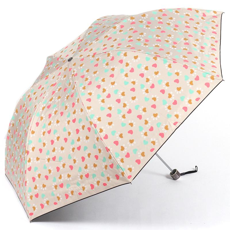优水绿色紫色粉色米色蓝色黑胶手动聚酯纤维遮阳伞铅笔伞成人遮阳伞