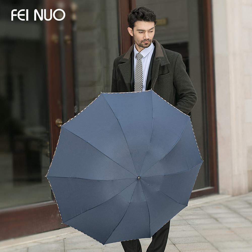 菲诺手动碰击布雨伞三折伞成人--遮阳伞