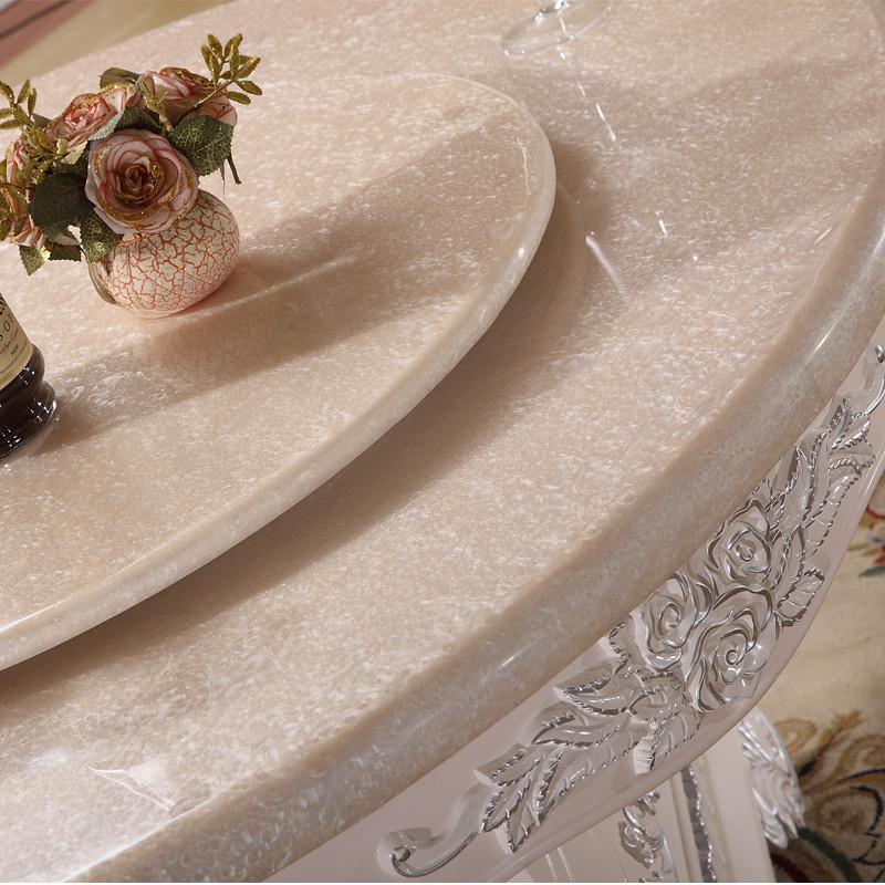 丽诺威轩 组装大理石支架结构橡木艺术圆形欧式 a593餐桌