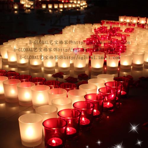 艺宝格玻璃块状蜡烛简约现代珍烛台烛台