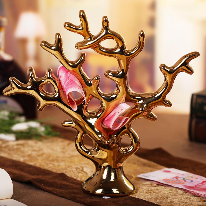 君凯陶瓷陶瓷植物桌面摆件招财简约现代摆件