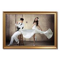 白色金色香槟色银色木相框长方形田园 相框