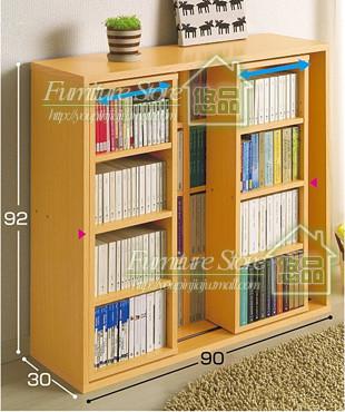 悠品 人造板浮雕刨花板/三聚氰胺板框架结构推拉成人简约现代 书柜