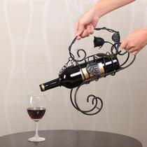 黑色黑红金锻制铁金属工艺不规则体结构移动置地艺术欧式 GM18166酒架