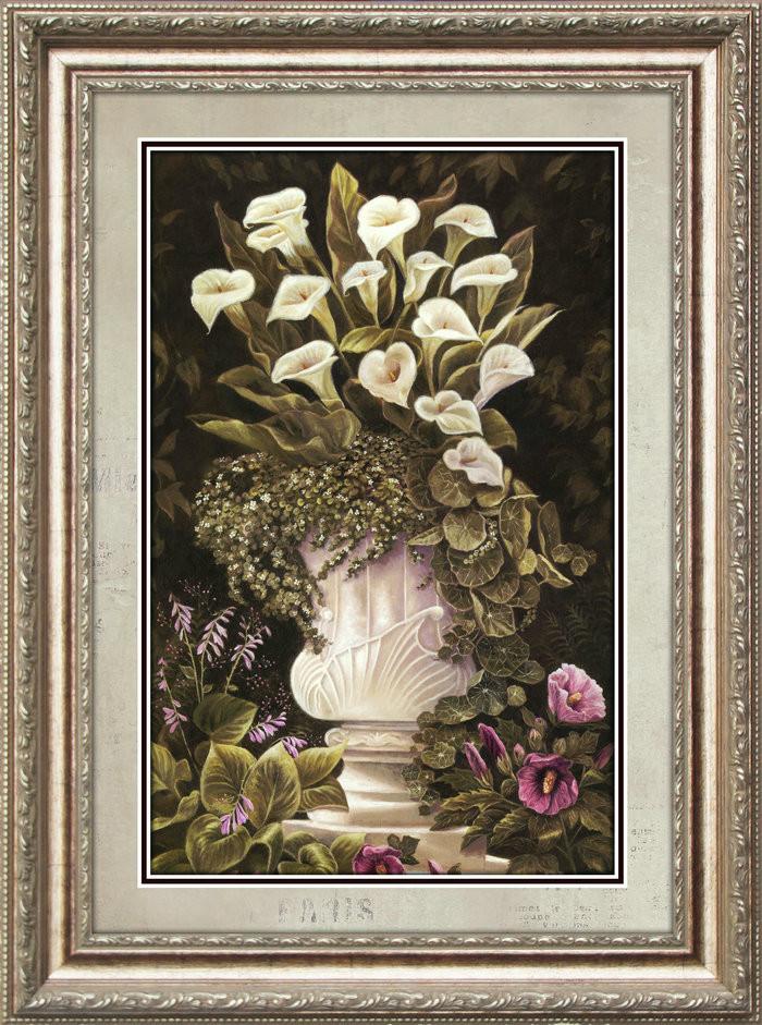 美画平面有框单幅价植物花卉喷绘装饰画
