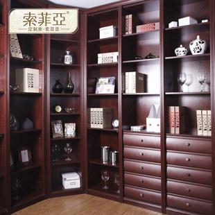 索菲亚 柜体/平米人造板光面密度板/纤维板三聚氰胺板储藏成人欧式 书柜