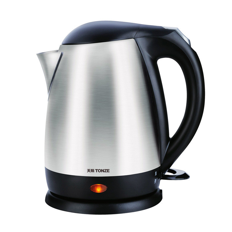 天际银色不锈钢普通电热水壶底盘加热电水壶