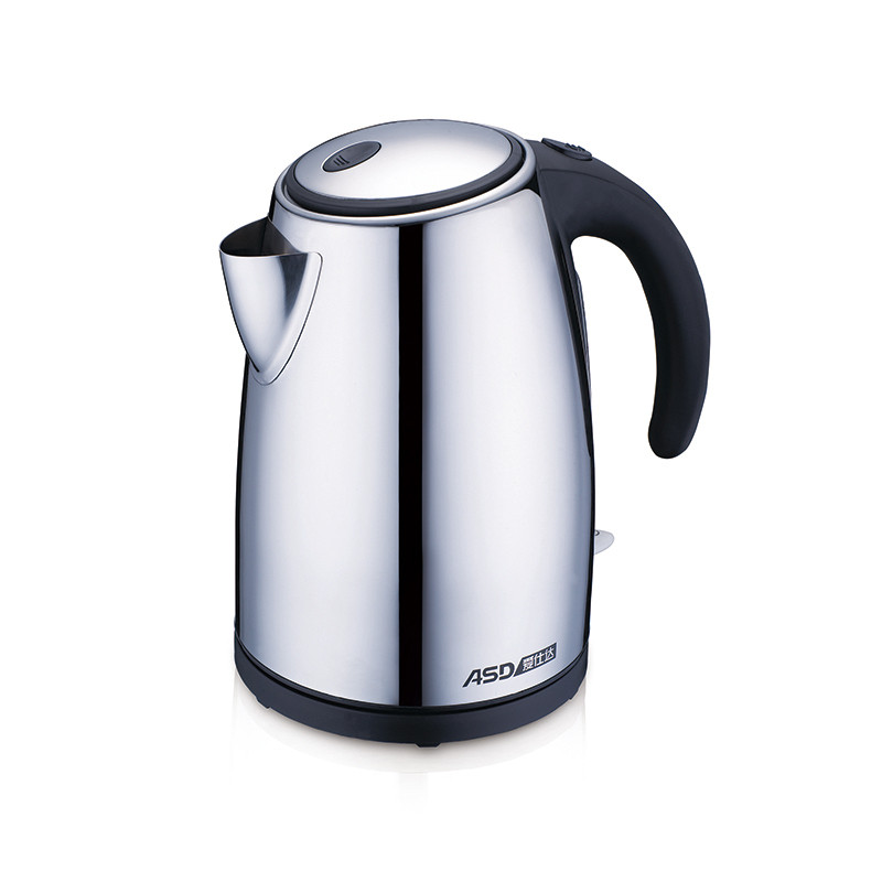 爱仕达银色不锈钢分钟普通电热水壶底盘加热电水壶