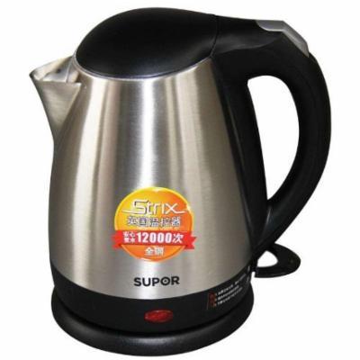 苏泊尔银色不锈钢普通电热水壶底盘加热-电水壶