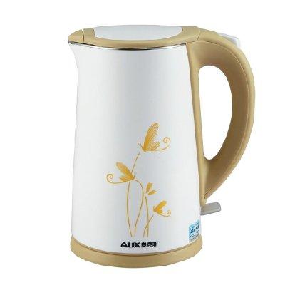 奥克斯 白色塑料保温电热水壶底盘加热 电水壶