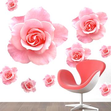 伊娃爱情娃娃玫瑰花之恋平面墙贴植物花卉墙贴