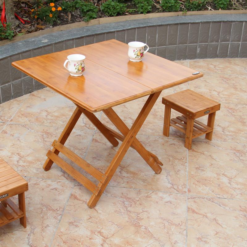 竹雅荟 竹支架结构折叠简约现代 折叠桌图片