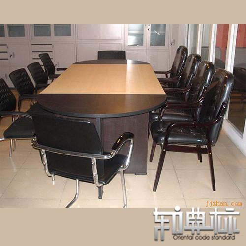 东方典标 板式防火椭圆形 会议桌