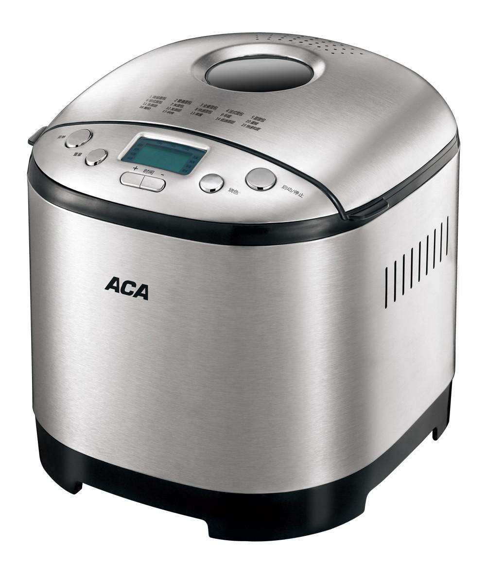 北美电器 银色单搅拌叶片金属断电记忆功能保温电热管加热电脑式 面包机