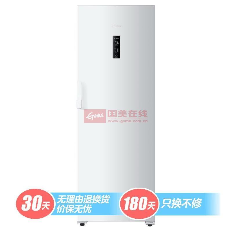 海尔 白一级机械式定频R600a直冷侧开式立式冷柜 冷柜