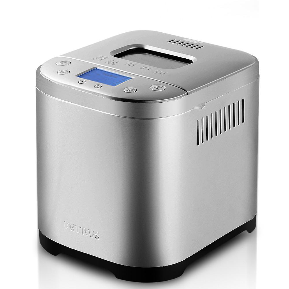 柏翠 浅灰色单搅拌叶片金属断电记忆功能保温电热管加热电脑式 面包机