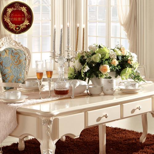 约翰华兰 餐桌组装无框架结构橡木移动艺术正方形欧式 餐桌价格,图图片
