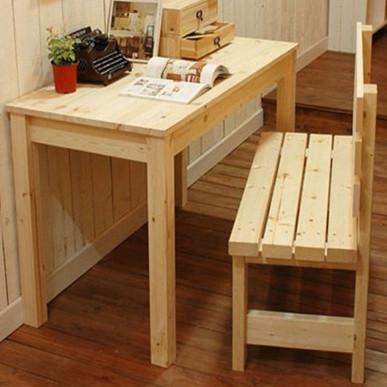 木艺生 散装松木简约现代 书桌