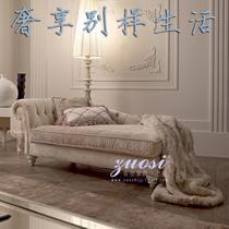 L形拉扣面料工艺复合面料海绵新古典 贵妃椅