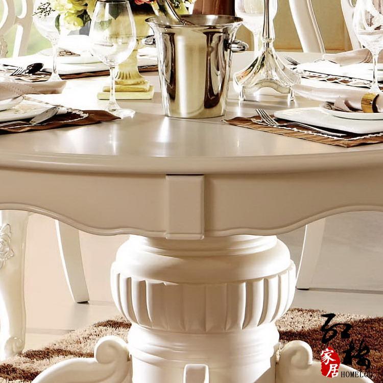 法拉丹顿 组装橡木圆形欧式 餐桌