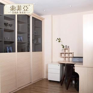 索菲亚 柜体/平米人造板光面密度板/纤维板三聚氰胺板多功能植物花卉成人欧式 书柜