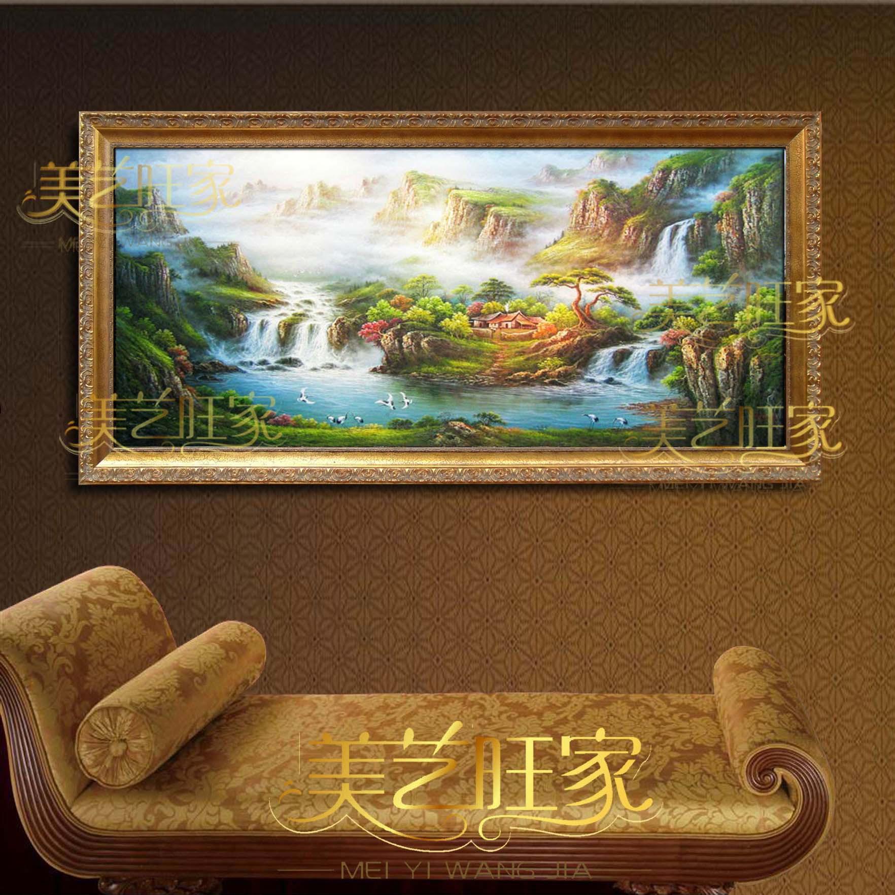 美艺旺家 立体有框单幅风景手绘 jbp01油画