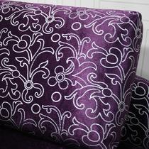 紫色(样板色)L形植绒面料工艺木质工艺多功能复合面料海绵艺术简约现代 531贵妃椅