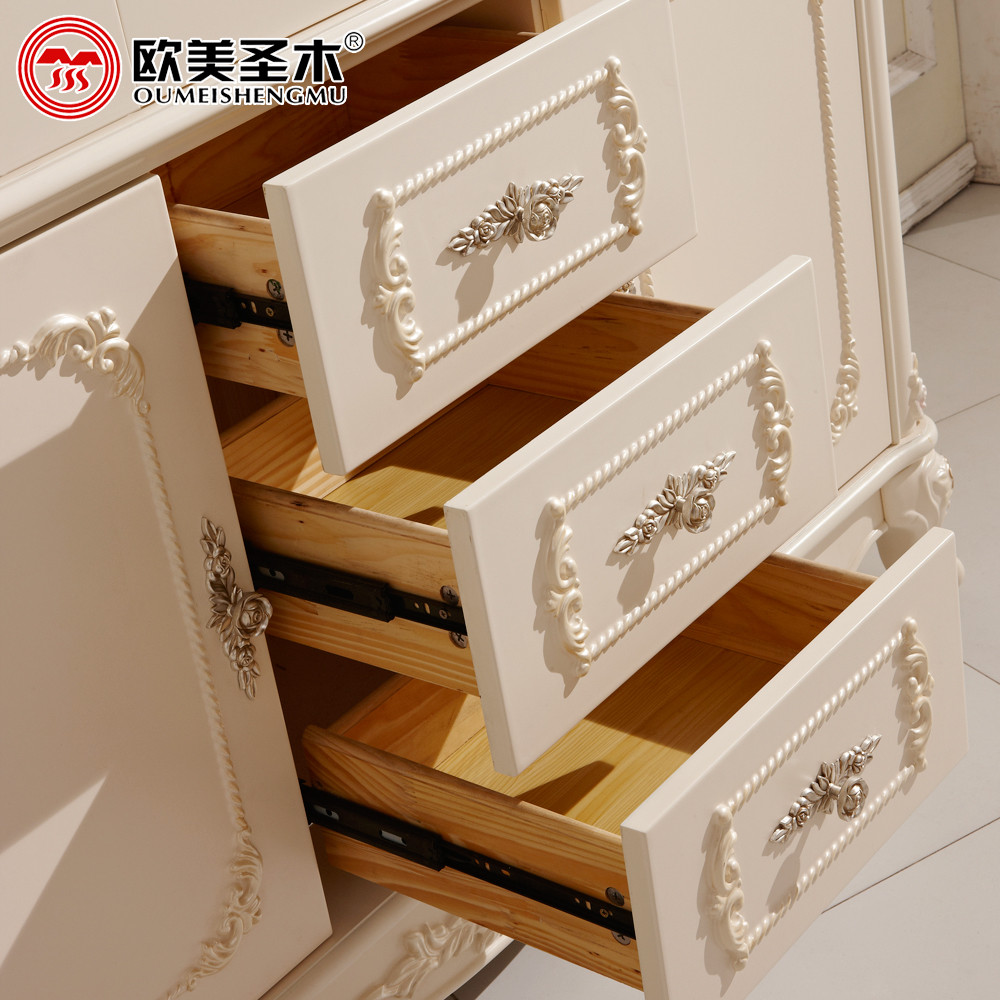 欧美圣木 荷花白哑光人造板框架结构拆装成人欧式 书柜