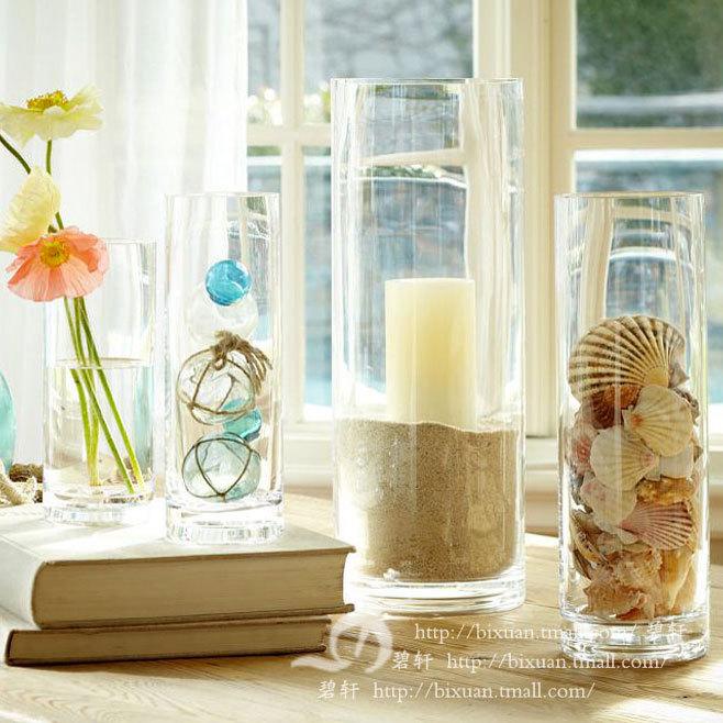 Bixuan 玻璃落地花瓶中號簡約現代 花器
