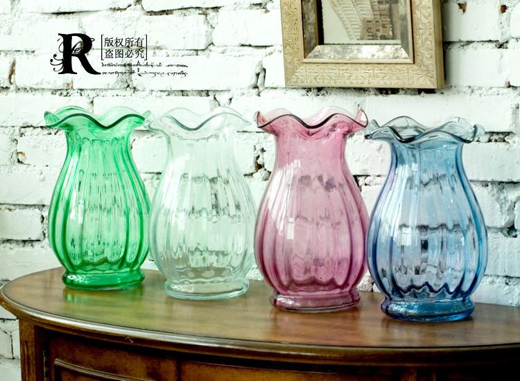 瑞居空间 玻璃台面花瓶小号欧式 花器