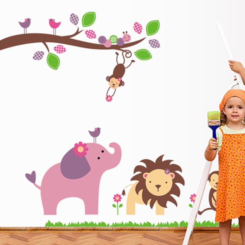 新贸平面-小动物墙贴卡通动漫墙贴