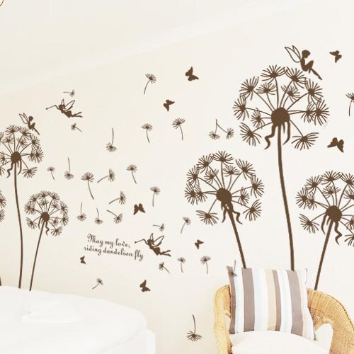 新贸 平面大型蒲公英墙贴植物花卉 墙贴