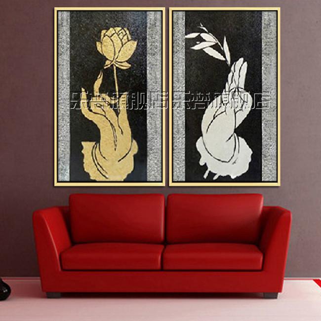 乐梵银色金色立体有框单幅静物手绘油画