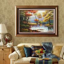 立体有框风景手绘 油画