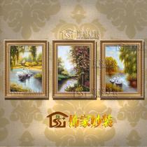 立体油画有框风景手绘 油画