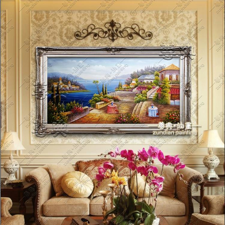 尊典 立体有框单幅风景手绘 zd592油画
