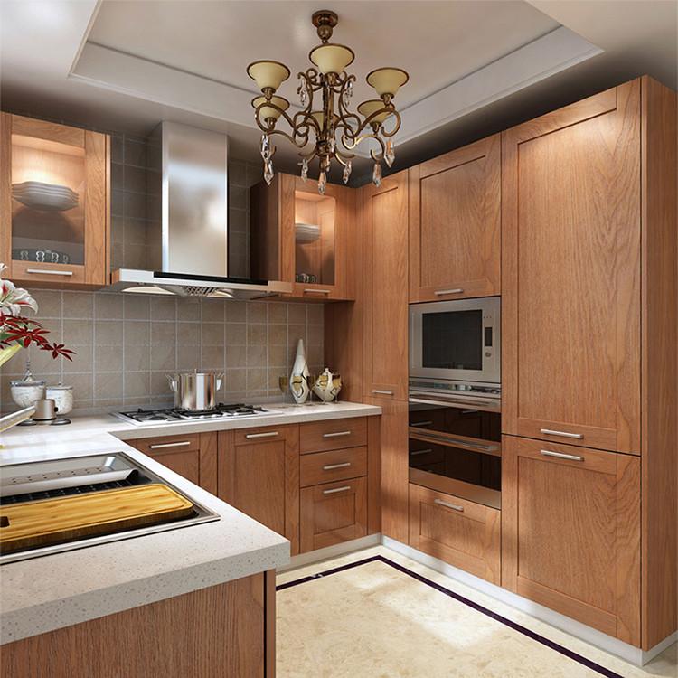 北纬56 美国白橡木橱柜 厨房 实木 大王椰生态板 石英石台面 定制橱柜