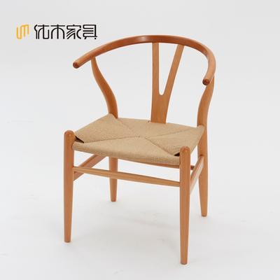 友木友 黑色原木色白色实木皮饰面榉木移动成人简约现代 餐椅价格,