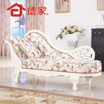 面料工艺橡木移动海绵植物花卉欧式 贵妃椅