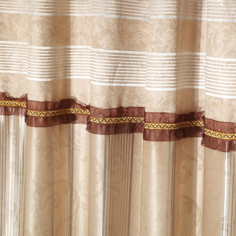 意萨立德布装饰全遮光平帷涤棉混纺人造纤维几何图案简约现代窗帘