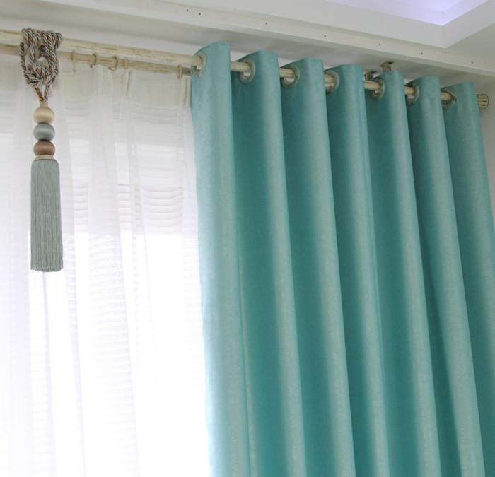 伊佳仁 布遮光聚酯纤维纯色简约现代 窗帘