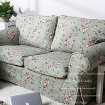 布格子双人座沙发简约现代 沙发罩