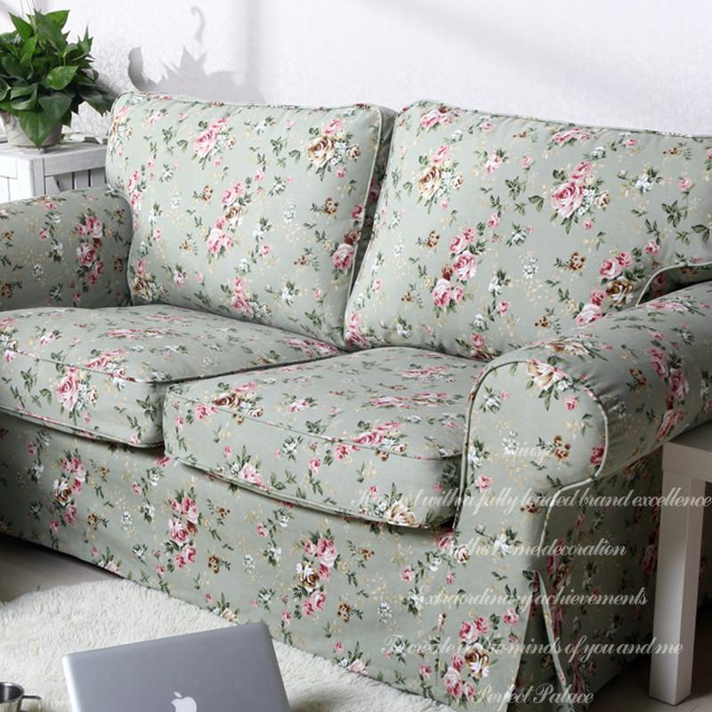 克瑞斯饰家 布格子双人座沙发简约现代 沙发罩图片