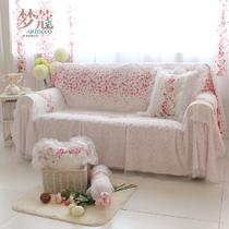 洛丽庄园-沙发巾布植物花卉组合沙发田园 沙发罩