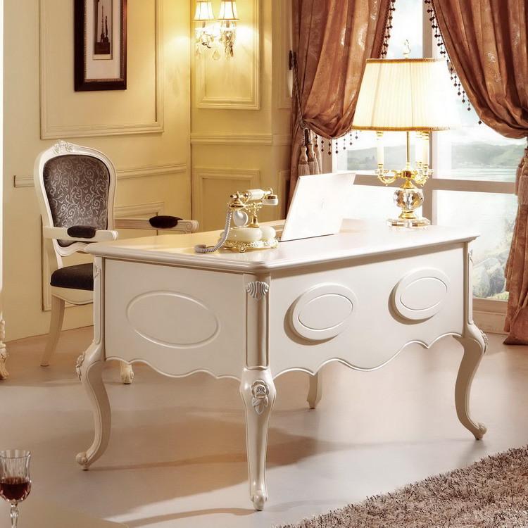 法拉丹顿 欧式经典组装人造板橡木单个 书桌
