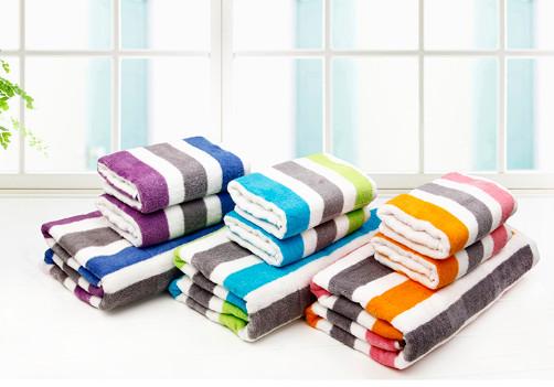 京京毛巾 蓝紫色蓝绿色橙粉色纯棉 浴巾